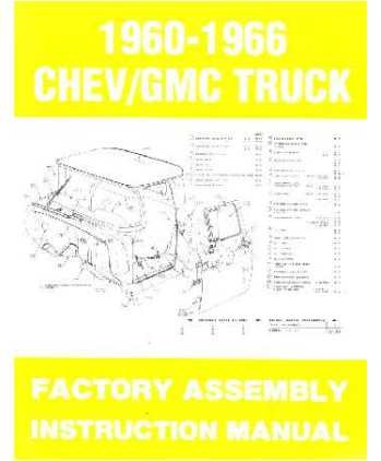 1963 1964 1965 1966 Chevy Pickup Truck Assembly Manual Book Illustrations