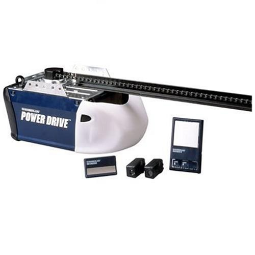 Chamberlain PD210D Power Drive 1/2-Horsepower Security-Plus Chain-Drive Garage Door Opener, Blue and White