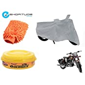 ESHOPITUDE-Bike & Car Cleaning & Utility Combo Set Of 3-Royal Enfield BULLET CLASSIC