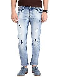 Code 61 Stretchable Slim Fit Tattared Jean - B016BW726A