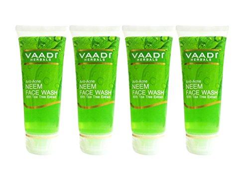 Vaadi Value Pack Of Anti-Acne NEEM FACE WASH With Tea Tree Extract (60mlx4)