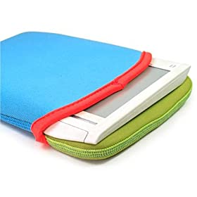 Kroo Reversible Sleeve for Amazon Kindle (Blue/Green)