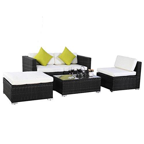 Evre Outdoor Rattan Weave Sofa Set Garden Patio Furniture