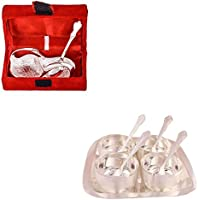 Silver Plated Mini Duck Tray With Spoon And Silver Plated Premium 4 Bowl Set With Rectangle Tray