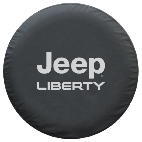 SpareCover BR-j-liberty-30-silver Brawny Series Black Denim 30″ Tire Cover with Jeep Liberty Design