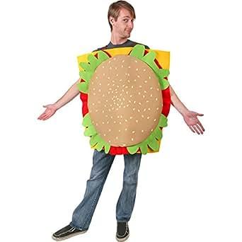 Amazon.com: Adult's Hamburger Halloween Costume (Size