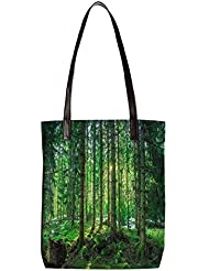 Snoogg Tall Tress With No Leaves Womens Digitally Printed Utility Tote Bag Handbag Made Of Poly Canvas With Leather...