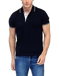 Scott Men's Premium Cotton Polo T-shirt - Navy Blue