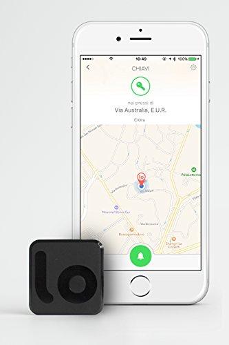 Filo Portachiavi Bluetooth Ritrova Chiavi - MADE IN ITALY - Key Finder Localizza Oggetti Bluetooth Tracker Localizzatore Bluetooth. Compatibile con iPhone 4s e successivi, iPad Mini, iPad 3rd gen e successivi e Samsung S4, S4mini, S5, S5mini, S6, S6 Edge, Grand Neoplus, Note 3/4, HTC One, OnePlus One, X, Two, LG G3, G4, Nexus 4/5, Motorola Nexus 6, Huawei Ascend P7, P8