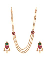 Ganapathy Gems I Gram Gold Plated South Indian Traditional Necklace Set