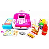 Pretend Play Electronic My Intelligence Cash Register Toy Realistic Actions & Sounds ( Color May Vary )