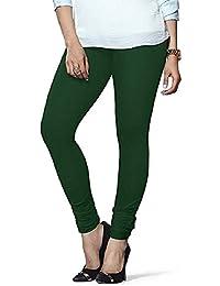 Surya Garments Women's Cotton Leggings(Surya Garments008_Green_Free Size)