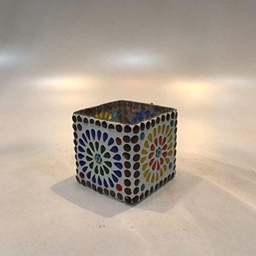 Dlite Crafts Multicolor Polka Design Home Decorative Votive Candle Holder, Set Of 2 PCs - B06XYKM1YC