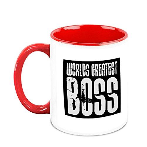 HomeSoGood Worlds Greatest Boss Office Quote White Ceramic Coffee Mug - 325 Ml