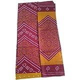 Dresses Materials For Women (dresses Material Cotton Dresses For Women Dresses For Girls Party Wear) (Bandhani Dress Material) - B06Y4C6Y5R