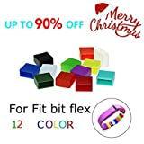 Swellder 12pcs Multicolor Replacement Silicon Fastener Ring For Fitbit Flex Wireless Activity Bracelet Sport Wristband...