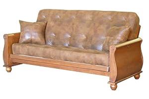 Big Tree Furniture Bordeaux Full Size Futon Sofa Sleeper Set BJSC 8