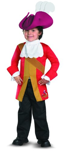 disguise boys disney junior jake and the neverland pirates captain hook classic toddler costume 3t - Disney Jr Halloween Costumes