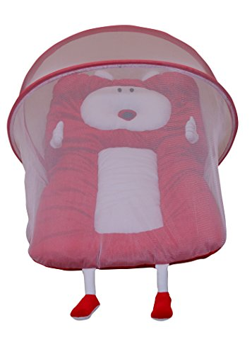 Amardeep Baby Mattress With Mosquito Net Red XL Size 90*55*6 Cms 0-1yrs