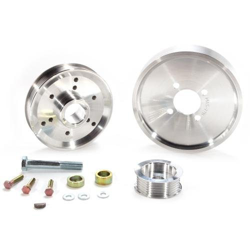 BBK 1559 Underdrive Pulley Kit for Ford Mustang 4.6/ GT – 3 Piece Lightweight CNC Machined Aluminum Kit