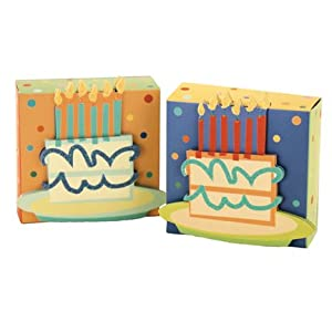 K & Co Party Favor Box BIRTHDAY CAKE Set of 6