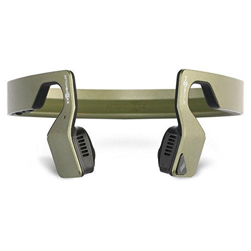 Aftershokz Bluez 2S Wireless Bone Conduction Bluetooth Headphones, Green Metallic, (AS500SM)
