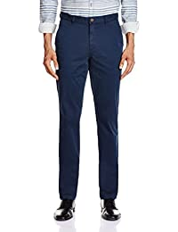 Mark-8 Men's Formal Chinos Trousers_5836982031_Navy Blue_30