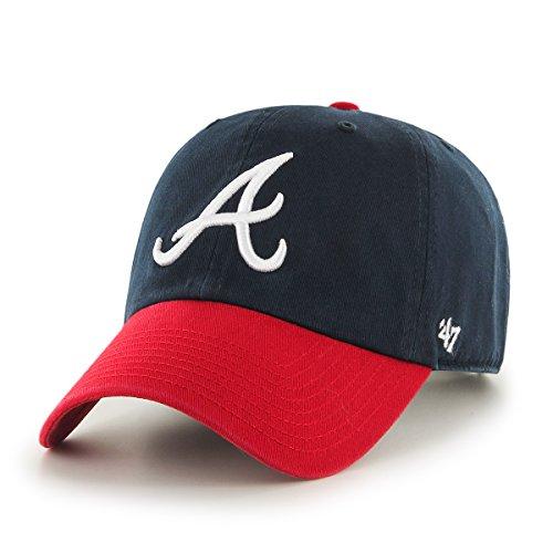 '47 Brand Atlanta Braves Navy Blue-Red Cleanup Adjustable Ha