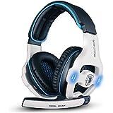 Sades Stereo 7.1 Surround Pro USB Gaming Headset With Mic Headband Headphone White