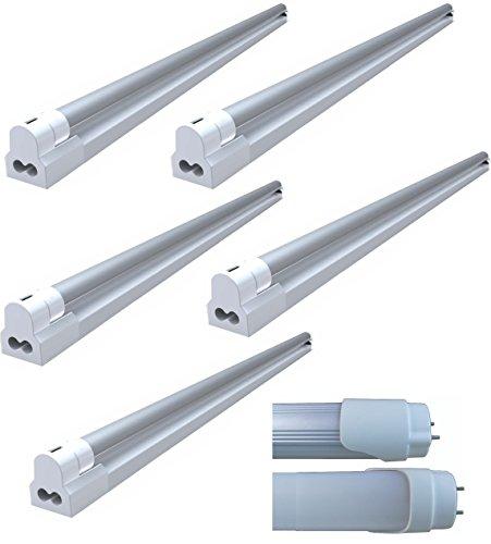 8 Watt LED Tube With Fixture (Pack Of 5 Tubes) - Natural White (CCT: 4500K) (8.00 Watts)