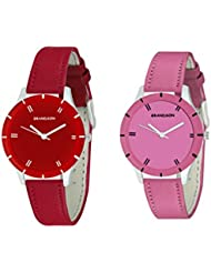 Grandson Red And Pink Casual Analog Watch For Girls And Women - B01HY4525W