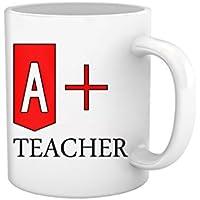 Tied Ribbons Teachers Day|teacher A+ Teacher Printed Coffee Mug(325 Ml, White)