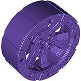 Lego Parts: #6057438 Wheel Hard Plastic With Spokes (Medium Lilac Purple, Set Of 50)