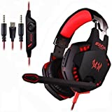 GuDenns Over Ear Vibration Stereo Gaming Headset With Mic USB And 3.5mm Audio Connector Adjustable Padded Headband... - B01CM9LL90