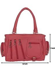 Kacey::Kacey Pink Shoulder Bag::Kacey Shoulder Bag::Plain Shoulder Bag::Women Shoulder Bag::PU Shoulder Bag::Casual... - B01I71SH0I