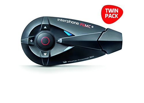 Interphone F5MC Twin-Pack - Kit manos libres para moto (conexión Bluetooth 3.0,...