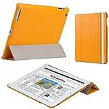 JISONCASE iPad mini & iPad mini Retina  【ファインPUレザー】 スマートケース labato 全5色 (オレンジ)