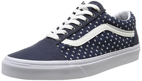 Vans U Old Skool Twill - Zapatillas bajas unisex, color twill/dress blues/plus, talla 36