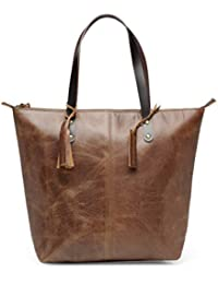 The House Of Tara Genuine Leather Shoulder Bag (Distress Brown) HTT 322