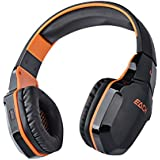 Foxnovo EACH B3505 Wifi Bluetooth Stereo Gaming Headset With Mic For IPad Black Orange Orange