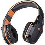Foxnovo EACH B3505 Wifi Bluetooth Stereo Gaming Headset With Mic For IPad Black Orange Orange