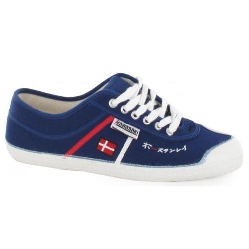 Kawasaki 2390 Ed Ex Sho - Zapatillas de lona / canvas para hombre, color azul / rojo / blanco, talla...
