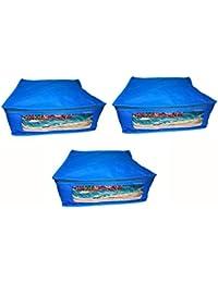 Abhinidi Non-Woven Multipurpose Large 10inc Sareee Cover 3PC Capacity 10-15 Units Saree Each - B01E7RF0JM