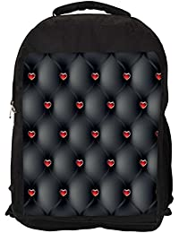"""Snoogg Red Small Hearts Casual Laptop Backpak Fits All 15 - 15.6"""" Inch Laptops"""