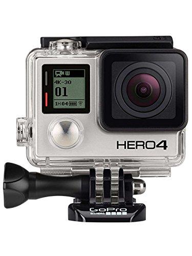 GoPro HERO4 Black Edition Adventure - Videocámara deportiva (12 Mp, Wi-Fi, Bluetooth, sumergible hasta 40 m), (versión alemana)