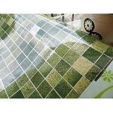45x500cm PVC Kitchen Mosaic Wall Sticker Waterproof Aluminum Foil Self-Adhesive Bathroom Wallpaper (Green)