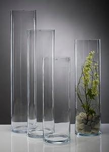 Glasvase Vase Glas Blumenvase Bodenvase Zylinder groß 90