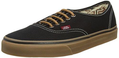 Vans Unisex Authentic C C Skate Shoe Black/gum 7 D(M) US