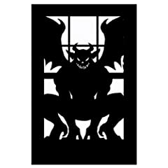 Scary Silhouette Gargoyle Window Decoration