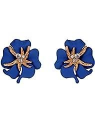 Crunchy Fashion Blue Alloy Stud Earring For Women